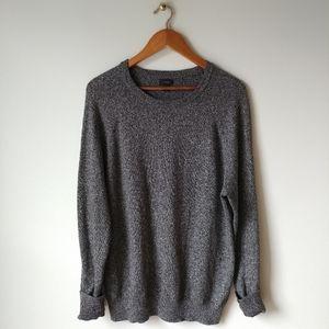 J. CREW Black And White Heathered Sweater